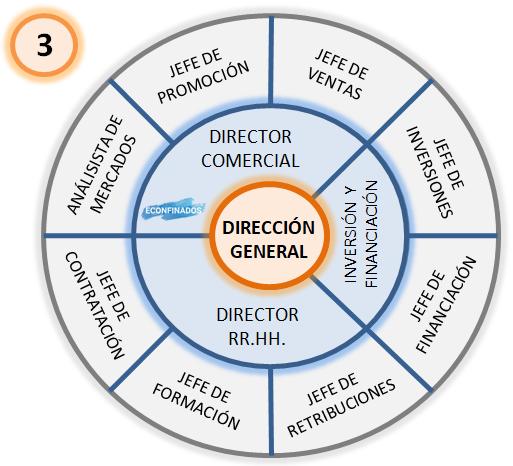 ejemplo de organigrama radial