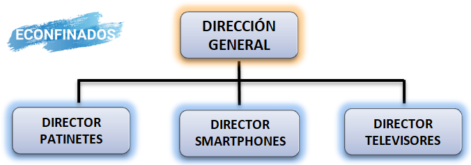 Departamentalización por productos o proyectos
