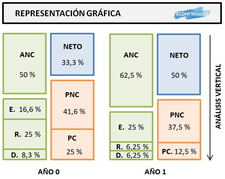 Análisis patrimonial vertical (representación gráfica)