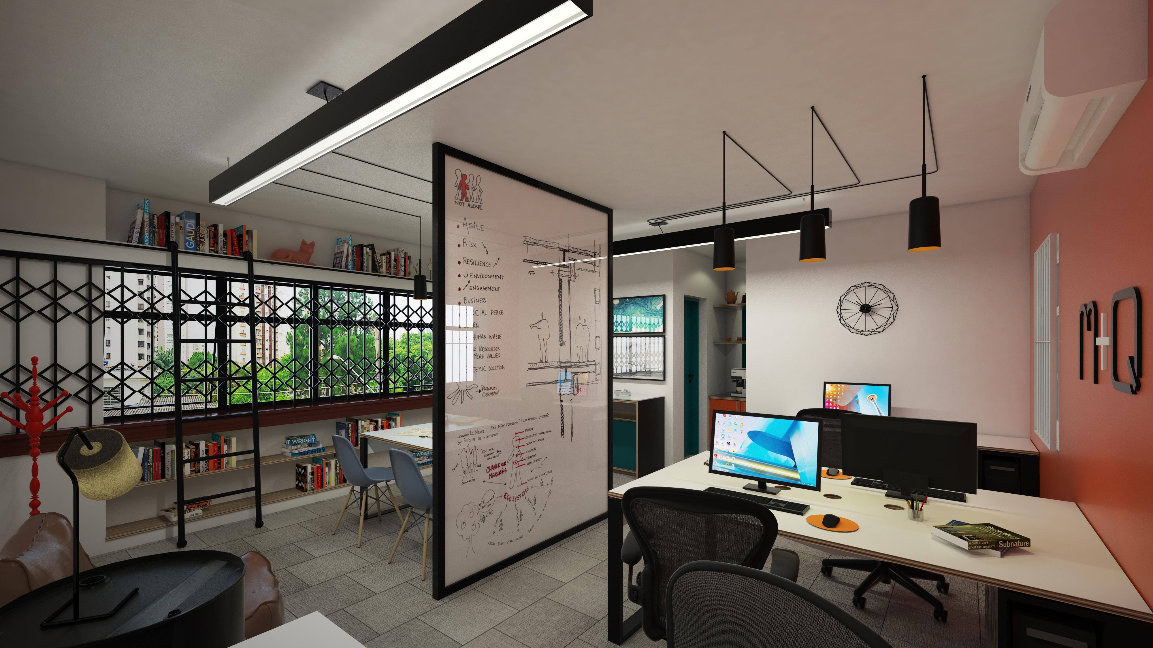 Visual da área de trabalho