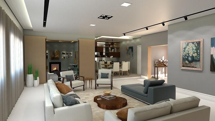 Sala de estar, projeto iluminação, decoração