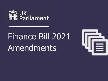 Finance Bill amendments