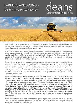 Farmers Averaging - More than Average -