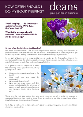 How often should I do my bookkeeping-fro