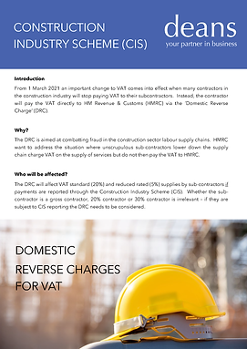 Construction Industry Scheme (CIS) Domes