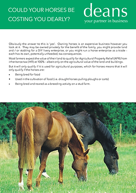 Could your horses be costing you dearly