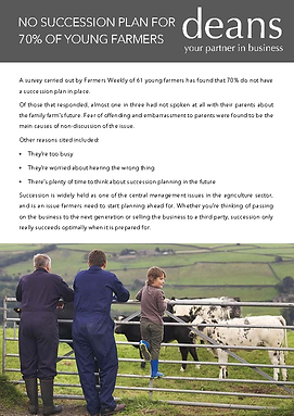 No Succession Plan for young farmers - f