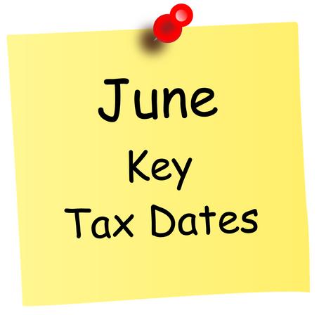 June Key Tax Dates
