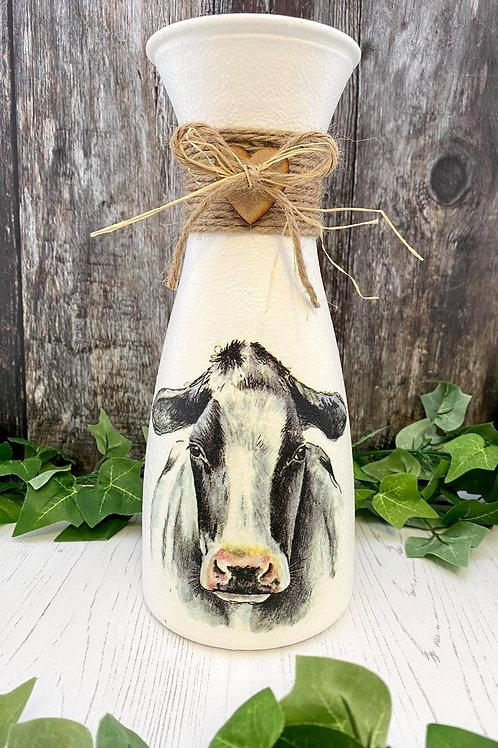 Long Cow Rustic Vase