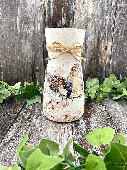 Tall Glass Sparrow Vase