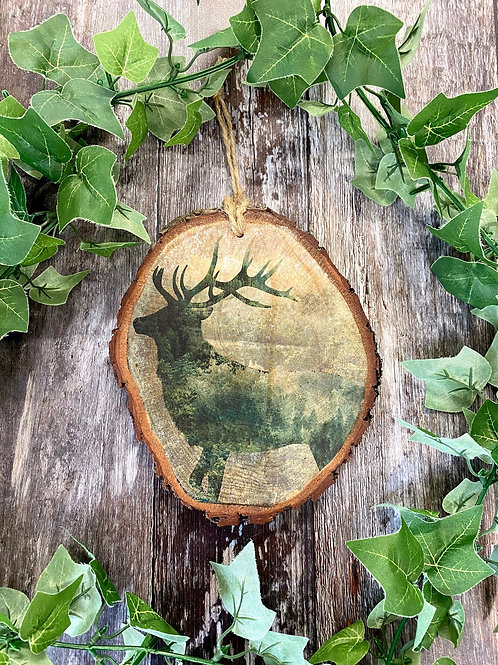 Forest Stag Wood Slice