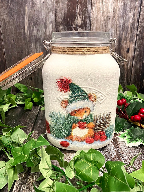 Large Winter Mouse Kilner Jar