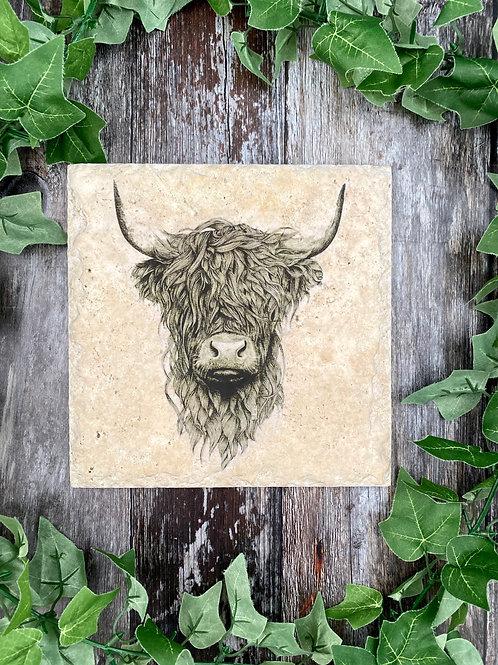 Illustrated Highland Cow Platter
