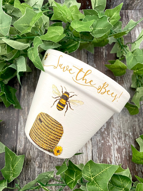 Mini Bee Plant Pot