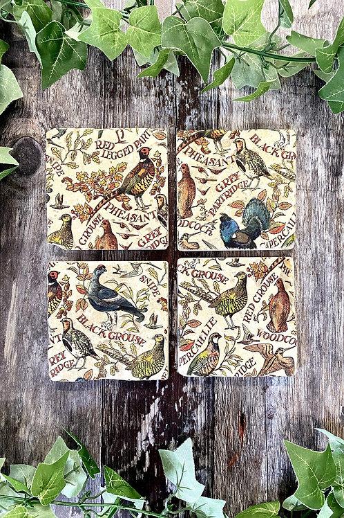 Set Of 4 Game Bird Coasters