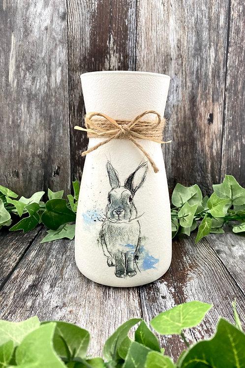 Cute Rabbit Glass Vase