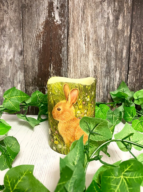 Spring Bunny Flameless Candle