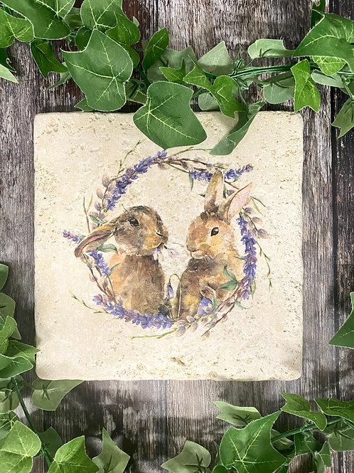 Cute Spring Bunny Worktop Saver
