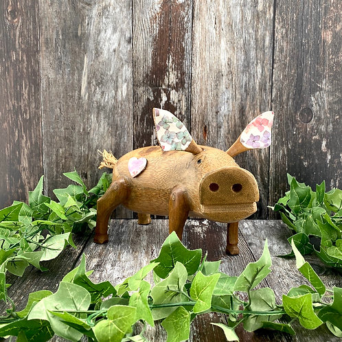 Large Bamboo Root Pig