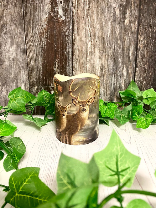 Woodland Deer Flameless Candle