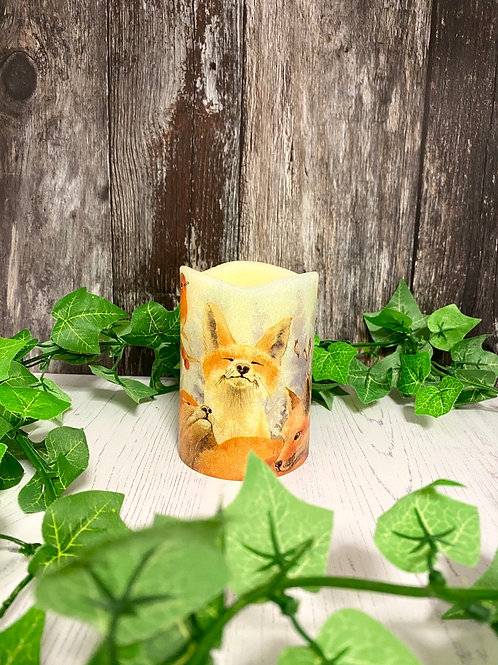 Fox Family Flameless Candle