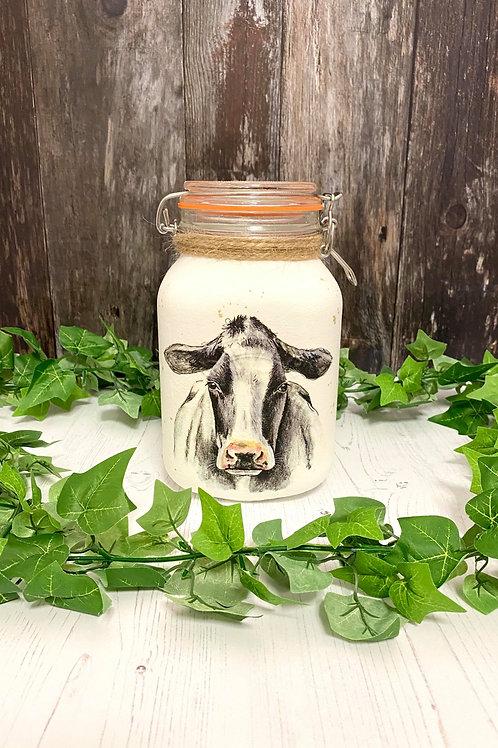 Unique Large 2Litre Cow Storage Jar