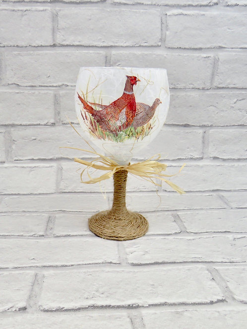 LARGE PHEASANT CANDLE HOLDER