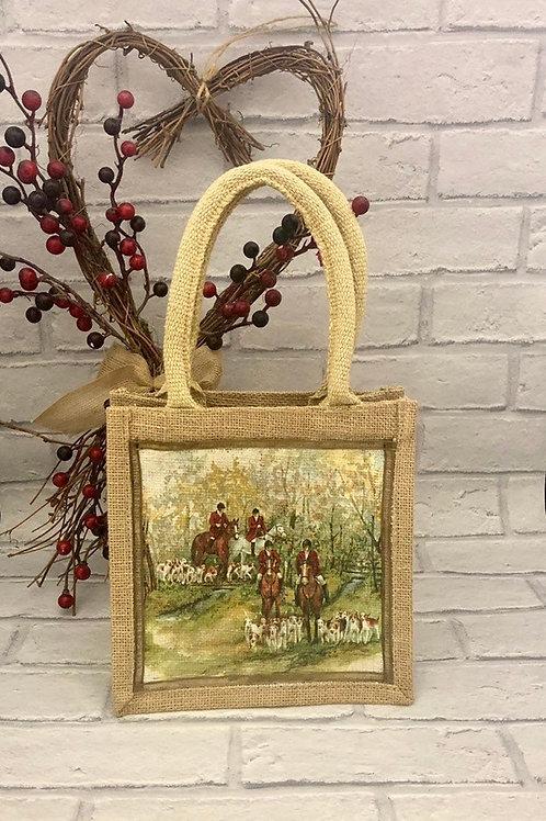 Mini Countryside Scene Jute Bag