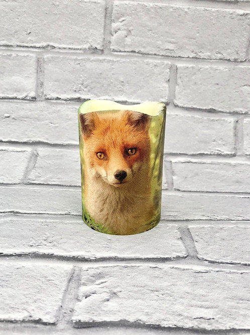 Forest Fox Flameless Candle