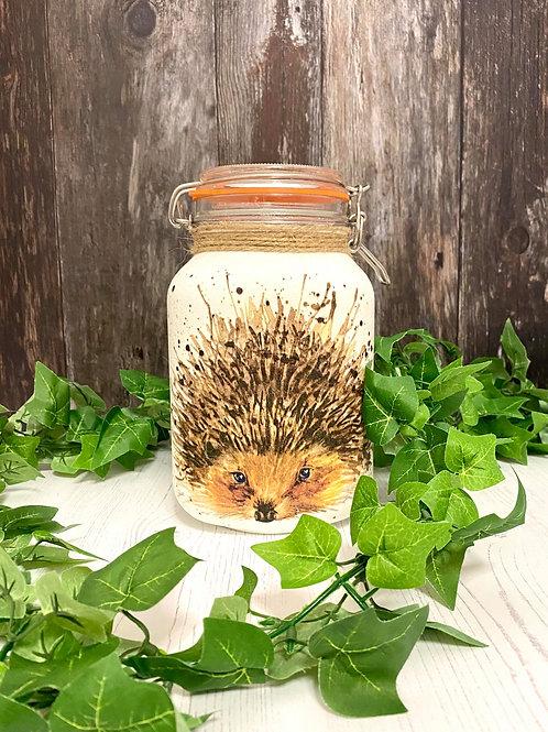 Large 2Litre Hedgehog Clip Lock Jar