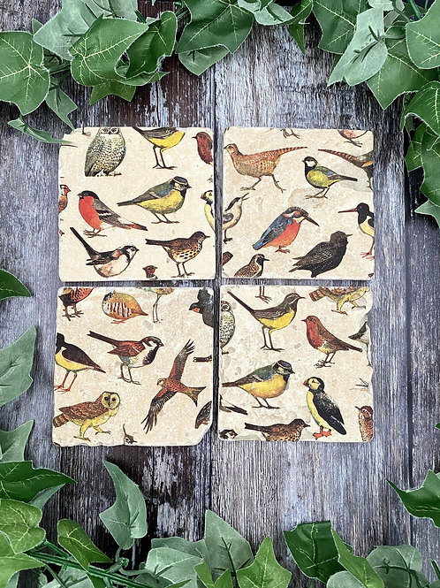 British Birds Coaster Set