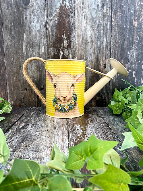 Lovely Floral Spring Lamb Watering Can
