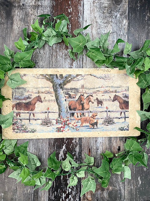 Long Stone Horse Trivet