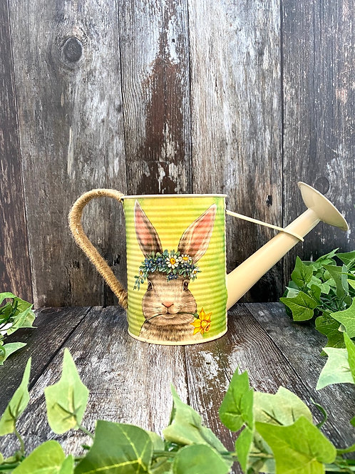 Cute Springtime Bunny Watering Can