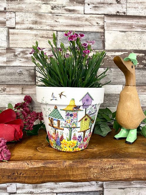 Medium Birdhouse Plant Pot