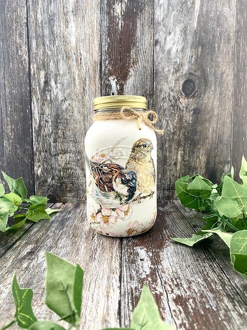 Sparrow 1Litre Mason Jar