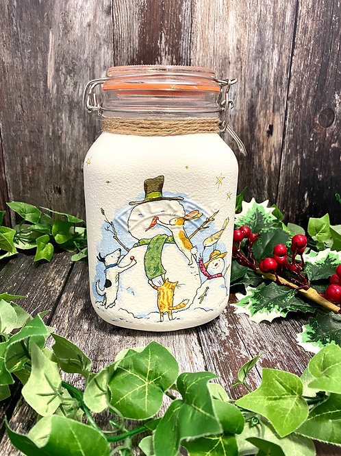 Cute Winter Animal Large Kilner Jar