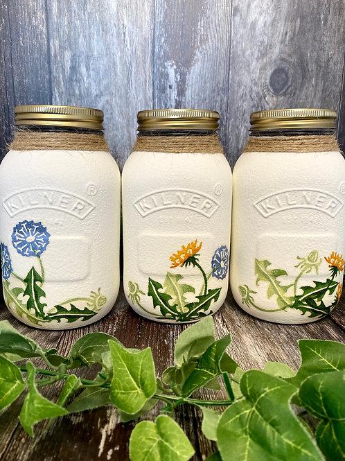 Dandelion 1 Litre Kilner Jars