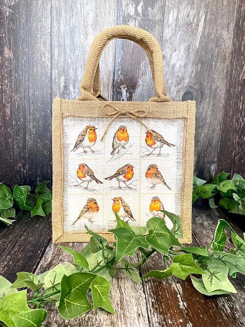 Mini Robin Jute Bag