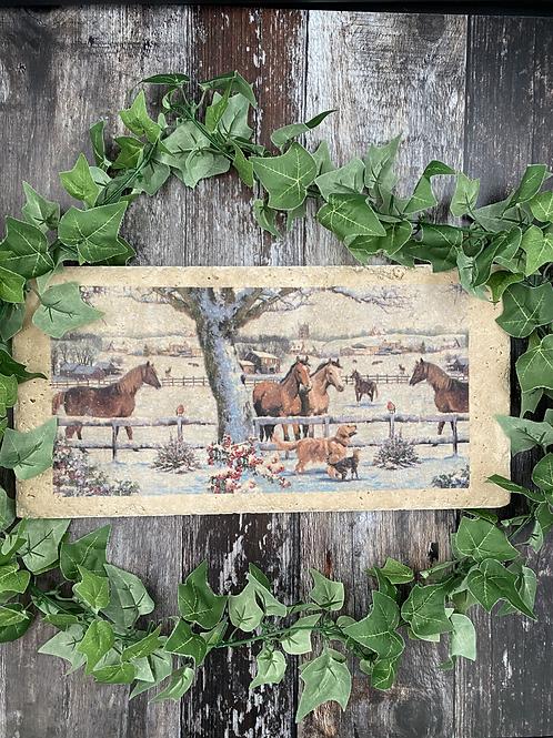 Long Horse Stone Worktop Saver