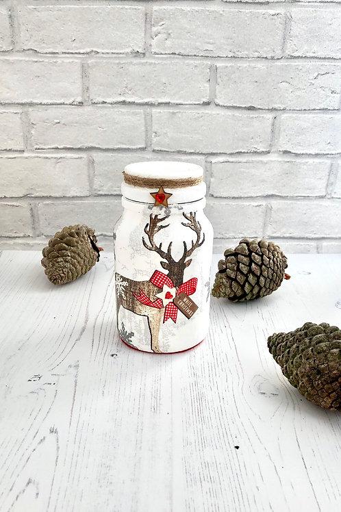 Rustic Stag Sweety Jar