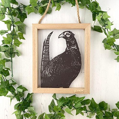 Proud Pheasant Framed Papercut Art