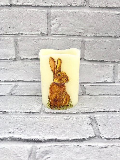 Wild Bunny Flameless Candle