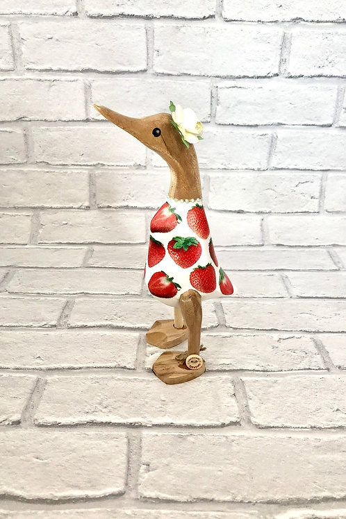 STRAWBERRY WOODEN DUCK