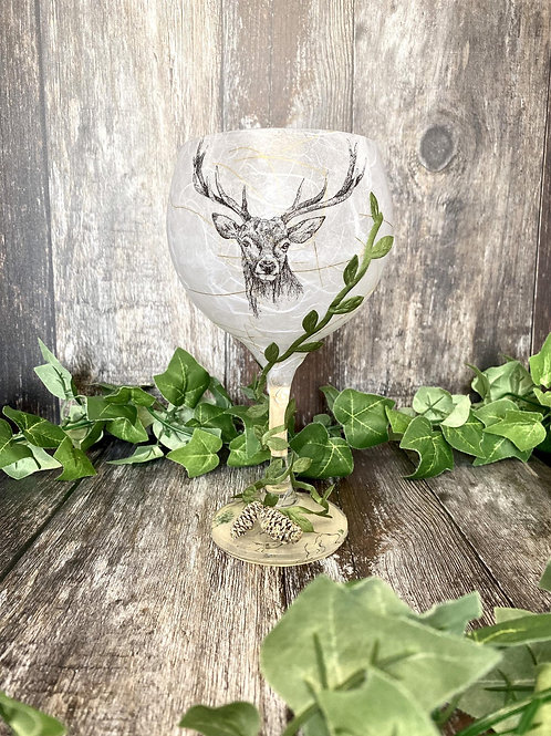 Stag Head Winter Candle Holder