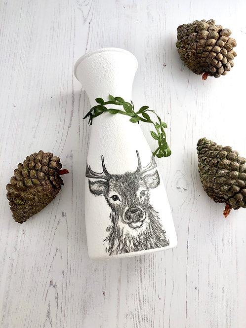 Stag Glass Vase