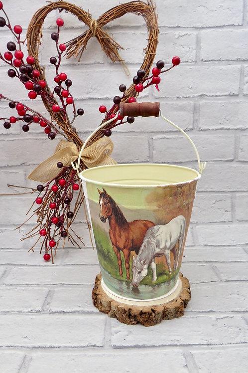Metal Horse Bucket