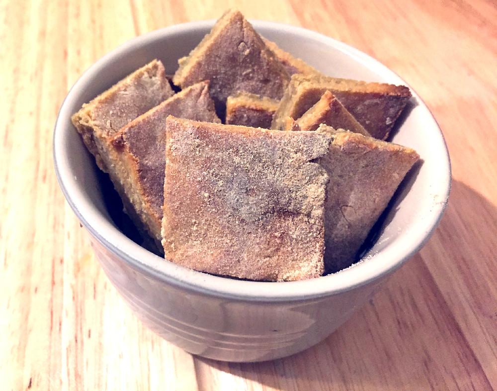 Gluten Free Vegan Garlic and Rosemary Crackers