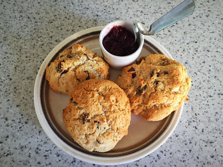 Sunday treat, gluten free, vegan scones!