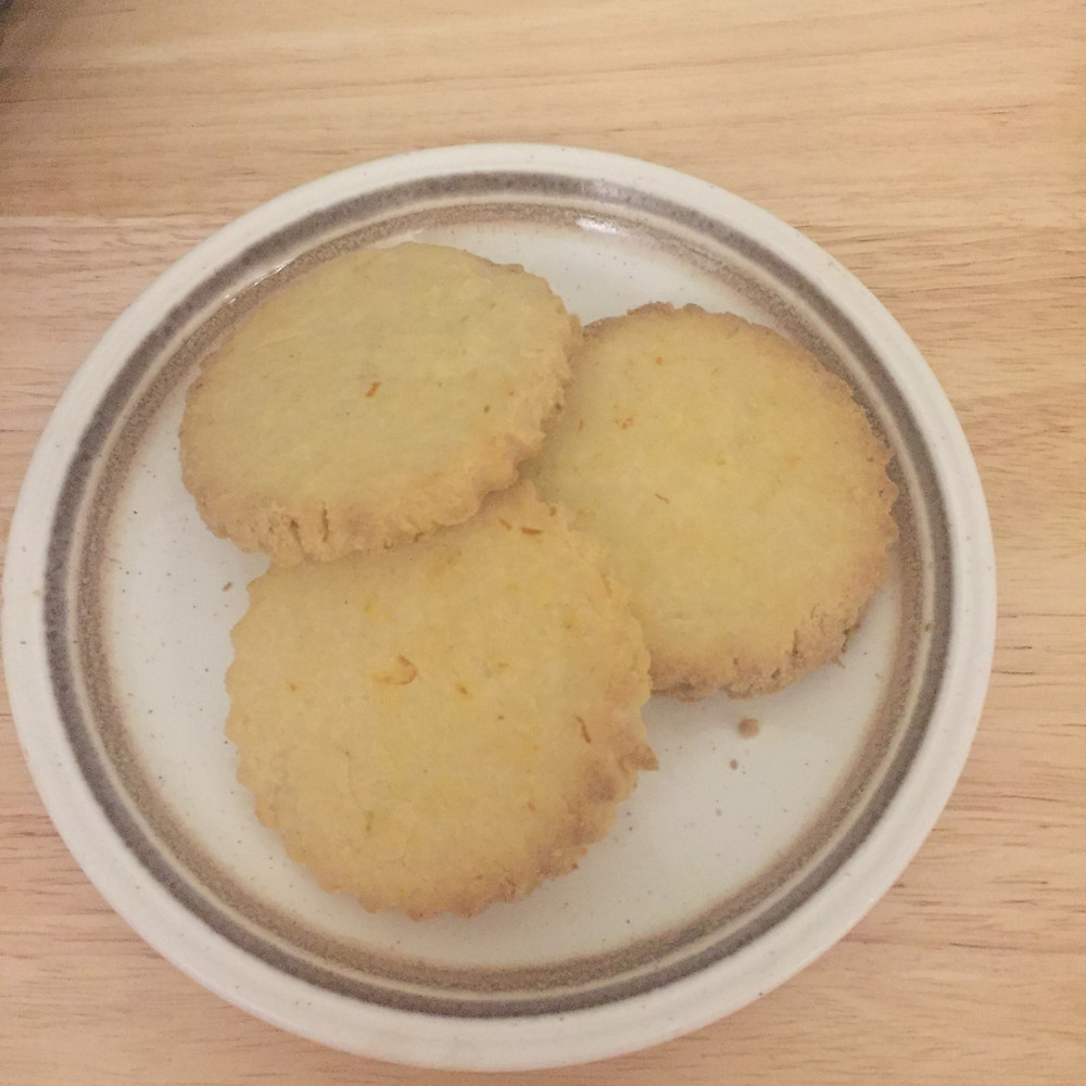 Gluten free, vegan, cardamon orange biscuits.
